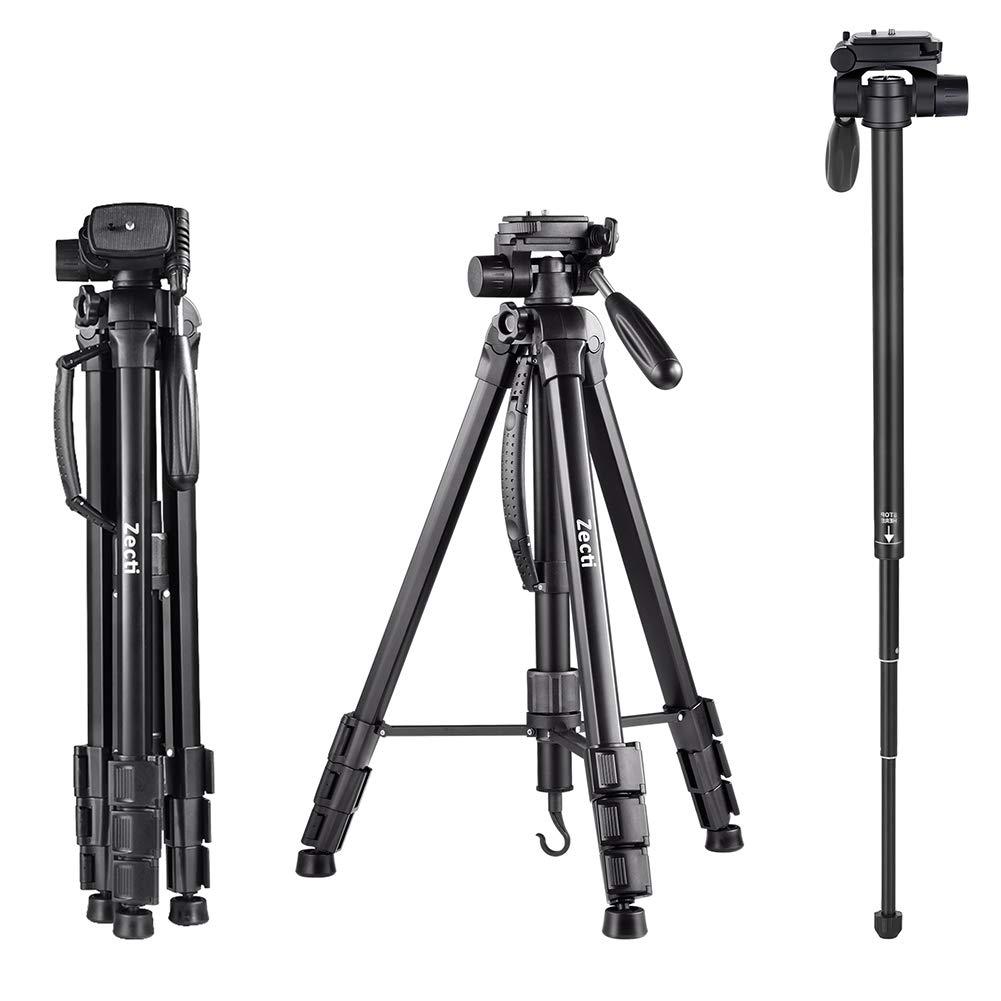 Kamera Stativ, Zecti 170cm/70inches Aluminiumlegierung Stativ Kompakt Leichtes Stativ
