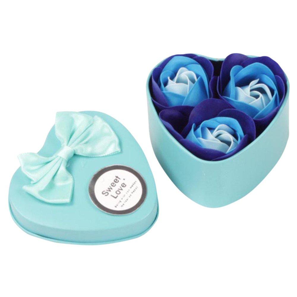 YWLINK Rose Blume – Flora duftende Seife Rose Blume – Ätherische Ölseife, Geschenk