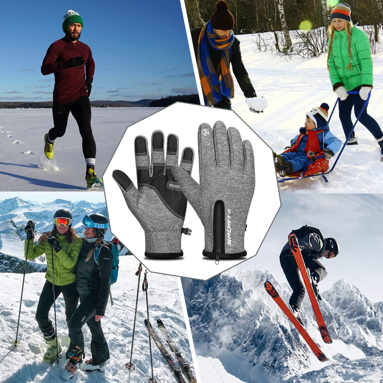 Cevapro Fahrradhandschuhe Warme Winterhandschuhe Leichte Sporthandschuhe Touchscreen Handschuhe
