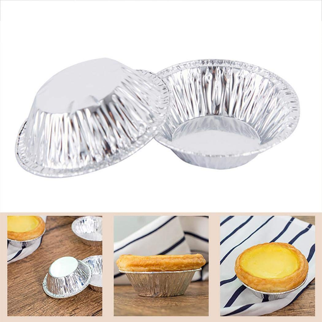 Clipss 100 Stück Praktische Einweg-Eierkuchenform Backform für Zuhause Backzubehör