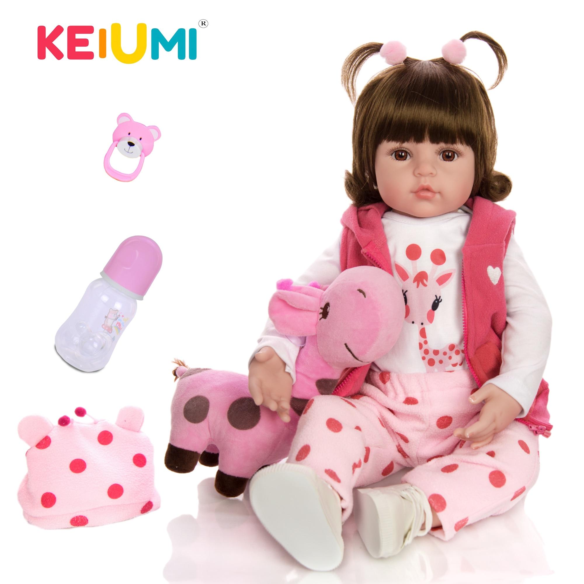 KEIUMI Heißer Verkauf Reborn Baby Puppe Spielzeug Tuch Körper Gefüllte Realistische Baby Puppe