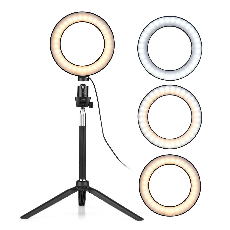 Eletorot 6-Zoll-Mini-LED-Ringlicht-Fotografie-Lampe