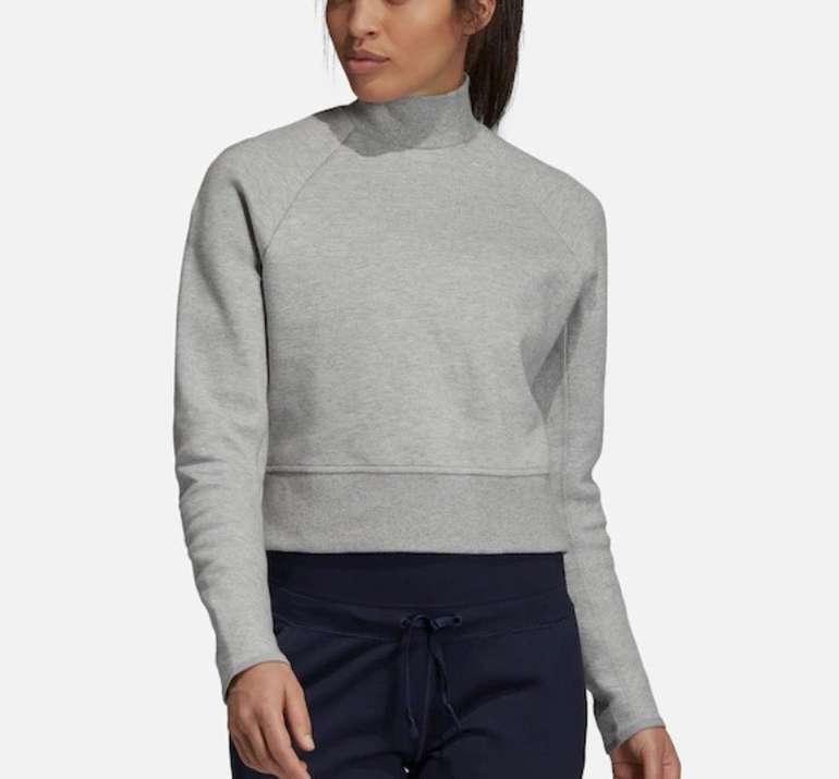 Adidas Performance Damen Sportsweatshirt 'Vrct' in hellgrau für 23,81€ inkl. Versand (statt 33€)