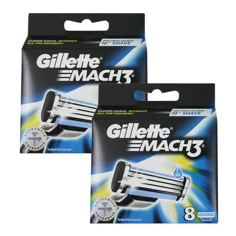 16er Pack Gillette Mach3 Rasierklingen (2x 8 Klingen) für 23,99€ inkl. Versand