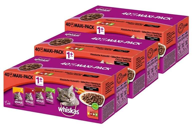 Whiskas Mega Pack Katzennassfutter (120x100g) für 29,99€ inkl. Versand