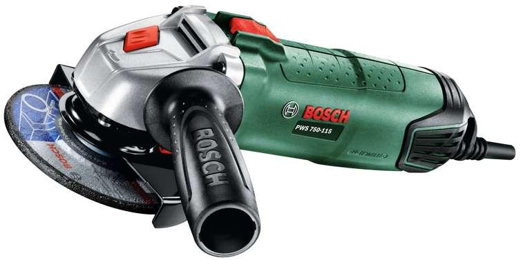 Bosch Winkelschleifer PWS 750-115 (750 Watt, Scheibendurchmesser 115 mm) für 43,90€ (statt 54€)