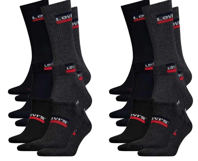 12er Pack Levis Unisex Socken (4x Sneaker, 4x Quarter und 4x Sportsocken) für 39,99€ inkl. Versand