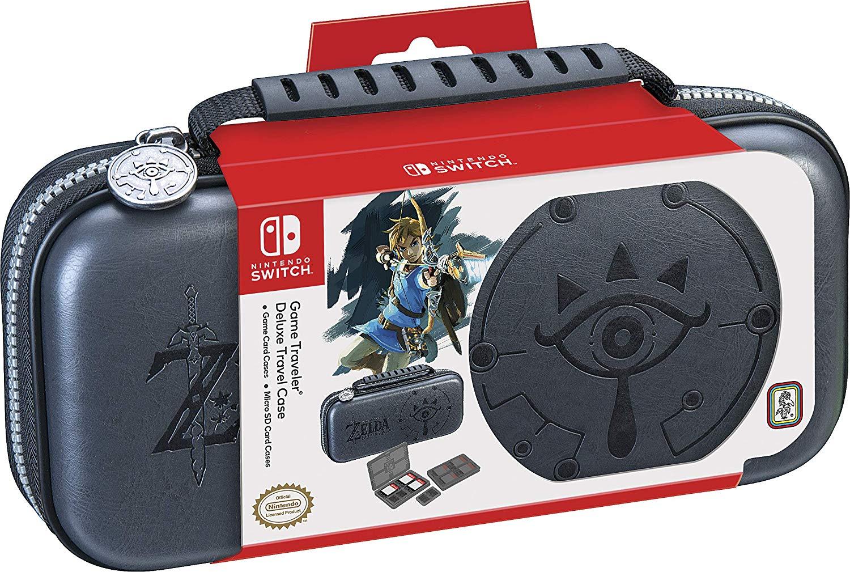 Nintendo Switch Travel Case Deluxe Set Zelda Breath of the Wild Sheikah Eye für 15€ (Amazon Prime)
