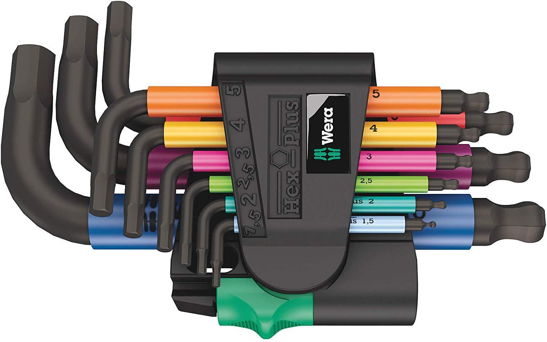Wera 950/9 Hex-Plus Multicolour 2 Winkelschlüsselsatz, kurz (prime)