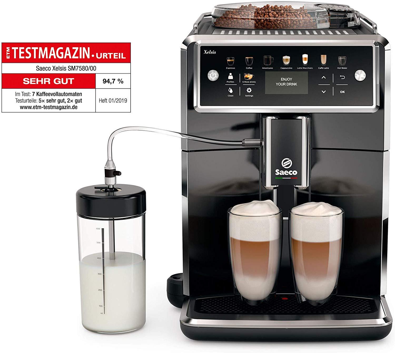 Saeco Xelsis SM7580/00 Kaffeevollautomat für 777,- bei Amazon.de (827,- minus 50,- € Sofortabzug)
