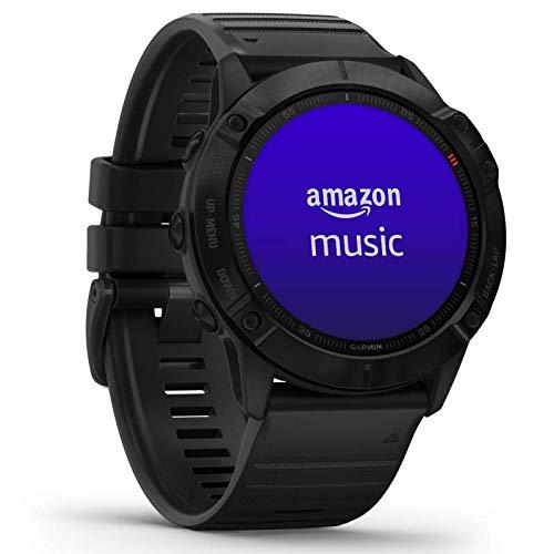 Garmin fenix 6X PRO GPS-Multisport-Smartwatch mit Herzfrequenzmessung am Handgelenk, bis zu 28 Tage Akku, 1,4″ Display, wasserdicht, kontaktloses Bezahlen, Musikplayer, vorinstallierte Karten, WLAN