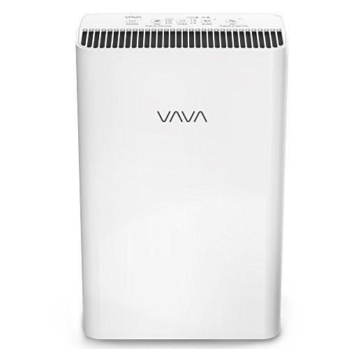 Luftreiniger VAVA mit 4-In-1 Echtem HEPA-Filter Echtzeit-Luftqualitätsanzeige Wohnraum-Luftfiltration entfernt Staub, Moder, Tierhaare, Leiser Betrieb und Automatischer Windmodus