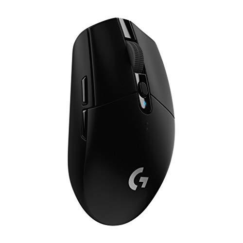 Logitech G305 Lightspeed Wireless Gaming Maus, Hero 12000 DPI Sensor, 6 Programmierbare Tasten, 250 Stunden Akkulaufzeit, Benutzerdefinierte Spielprofile, Leichtgewicht, PC/Mac – Schwarz