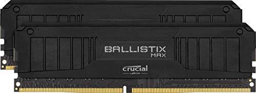 Crucial Ballistix MAX BLM2K8G51C19U4B 5100 MHz, DDR4, DRAM, Desktop Gaming Speicher Kit, 16GB (8GB x2) CL19, Schwarz