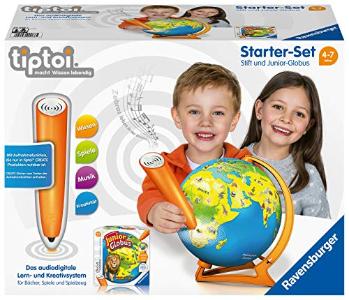Ravensburger tiptoi Starter Set 00068: Pen and Junior Globe-Learning System for Children from 4 Years